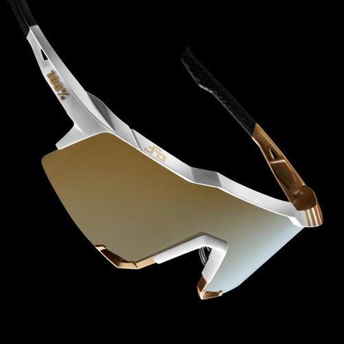 100% 100% Lunettes Speedcraft Peter Sagan LE White Gold / Sold Gold Miroir
