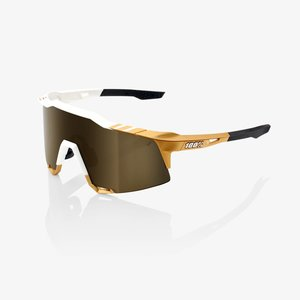 100% Lunettes Speedcraft Peter Sagan LE White Gold / Sold Gold Miroir