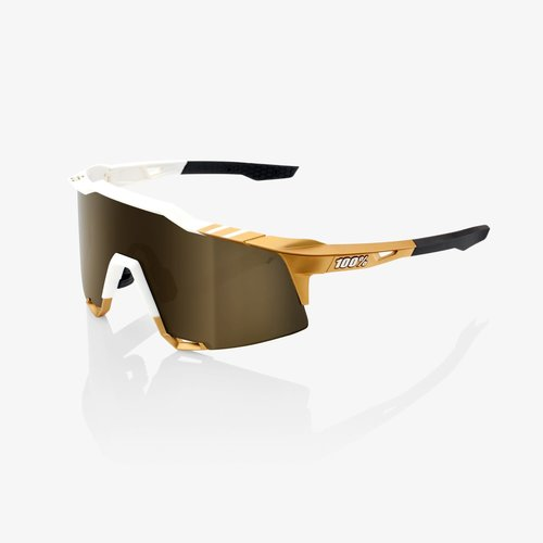 100% 100% Lunettes Speedcraft Peter Sagan LE White Gold / Sold Gold Miroir