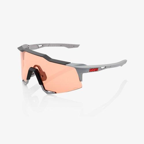 100% 100%  Lunette Speedcraft Soft tact Stone grey Hiper coral lens