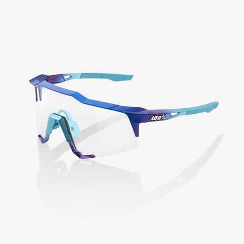 100% 100% Lunettes SpeedCraft  Matte Metallic Into the Fade frame - Blue Topaz Multilayer Mirror Lens