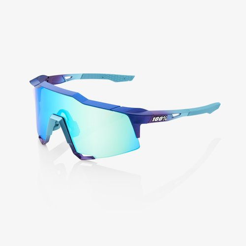 100% 100% Lunettes SpeedCraft  Matte Metallic Into the Fade frame - Blue Topaz Multilayer Mirror Lens