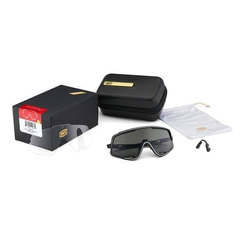 100% 100% Lunettes Glendale - Soft Tact Black - Smoke Lens