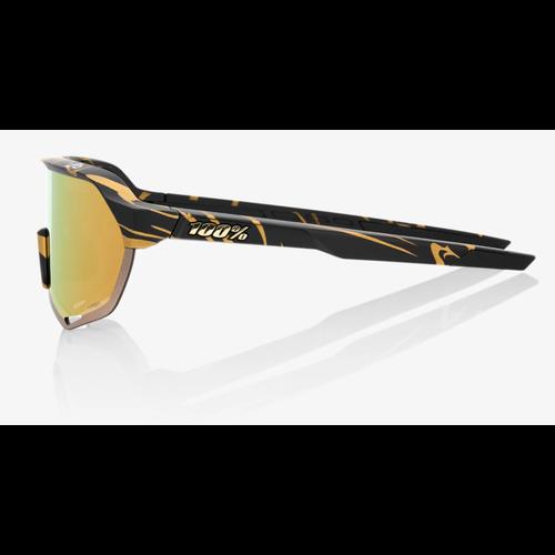 100% 100% Lunettes S2 Peter Sagan LE Metallic Gold Flake HiPER Gold Mirror
