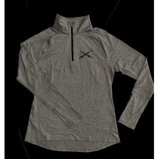 Ladies Half Zip, Long Sleeve, Athletic Top XXL