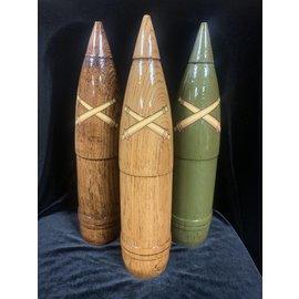 155mm 1:2 Scale Wooden Round - Dark Oak