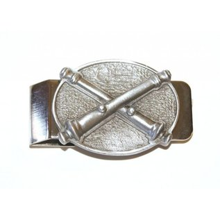 Crossed Cannon Money Clip - Pewter