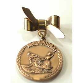 Small Gold Molly Pitcher Bow Pin (Medal not included)