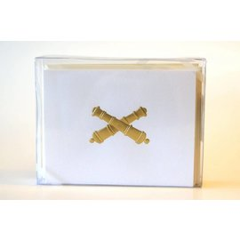 Crossed Cannon 10 Pack of Note Cards
