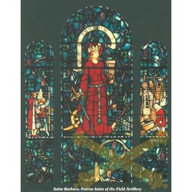 Saint Barbara Stained Glass Poster - 24x36