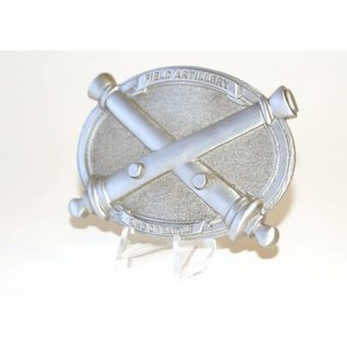 Pewter Crossed Cannons Belt Buckle