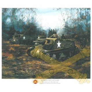Armored Field Artillery - 18x24 Print