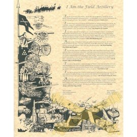 I Am The Field Artillery Print - 11x14