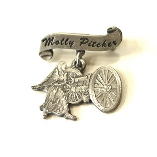 Pewter Molly Pitcher Pin