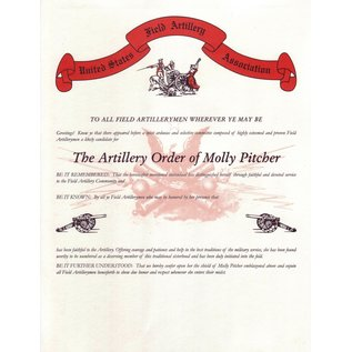 Replacement Award Certificates - Molly Pitcher Certificate
