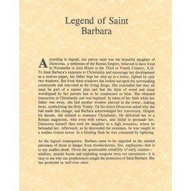 St. Barbara Legend (11x14)