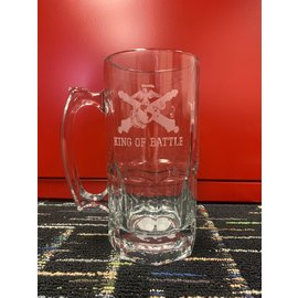 34 oz Marine Crossed Cannon Glass Mug