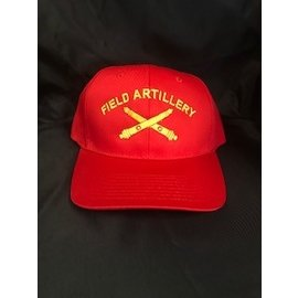 Red Field Artillery Hat