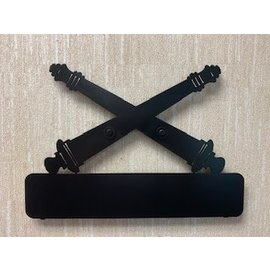 Metal Cross Cannon Wall Sign Black (Customizable)