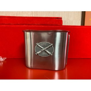 Crossed Cannon Pewter Logo Canteen Cup
