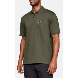 Under Armour Crossed Cannons Polo - XXLarge, Khaki Green
