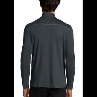 Men's Half Zip, Long Sleeve, Athletic Top - Black 2XLarge