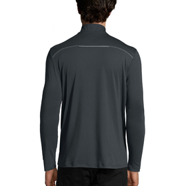 Men's Half Zip, Long Sleeve, Athletic Top - Grey XLarge