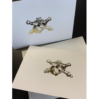 EGA Marine Crossed Cannon 10 Pack of Note Cards