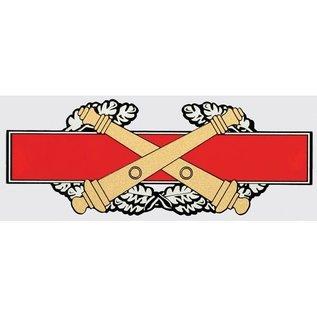 Combat Artillery Badge Decal - 6.5 inch