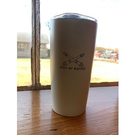 20 oz Stainless Steel Double Wall Tumbler - White