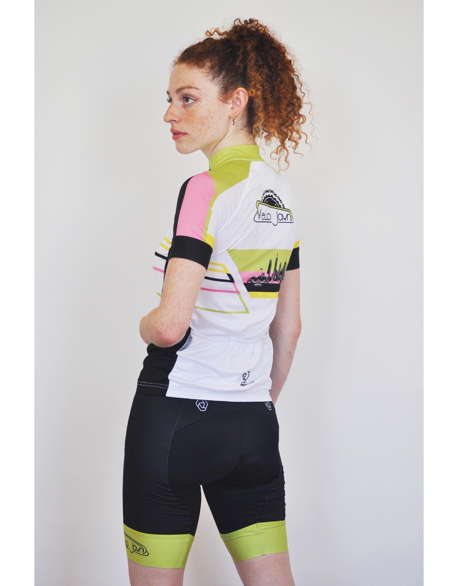 Verge VeloJawn White Strike Short Sleeve Jersey Women's