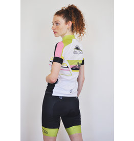 Verge VeloJawn White Strike Short Sleeve Jersey