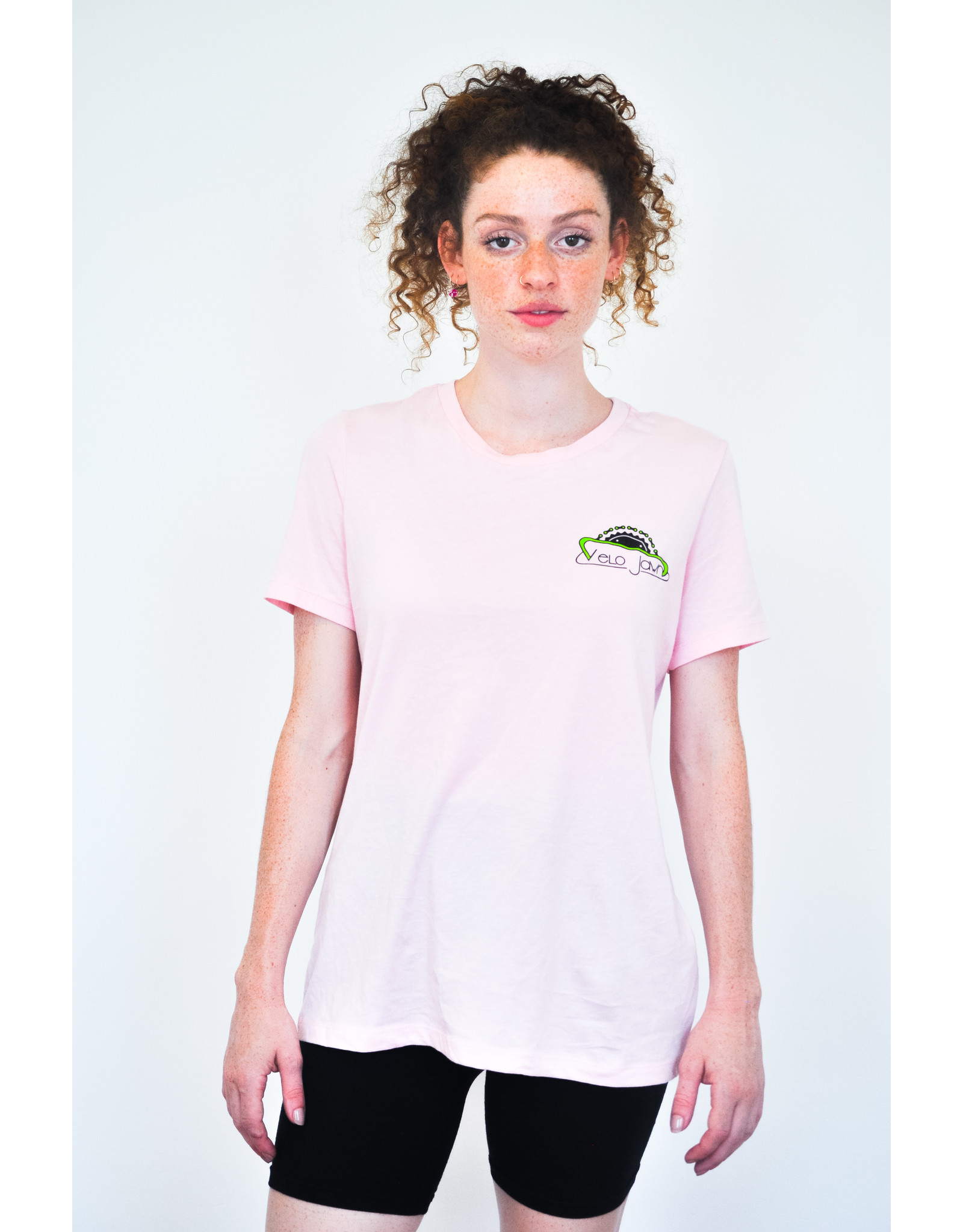 Custom Ink Bella Canvas Velo Jawn Pink  T-Shirt
