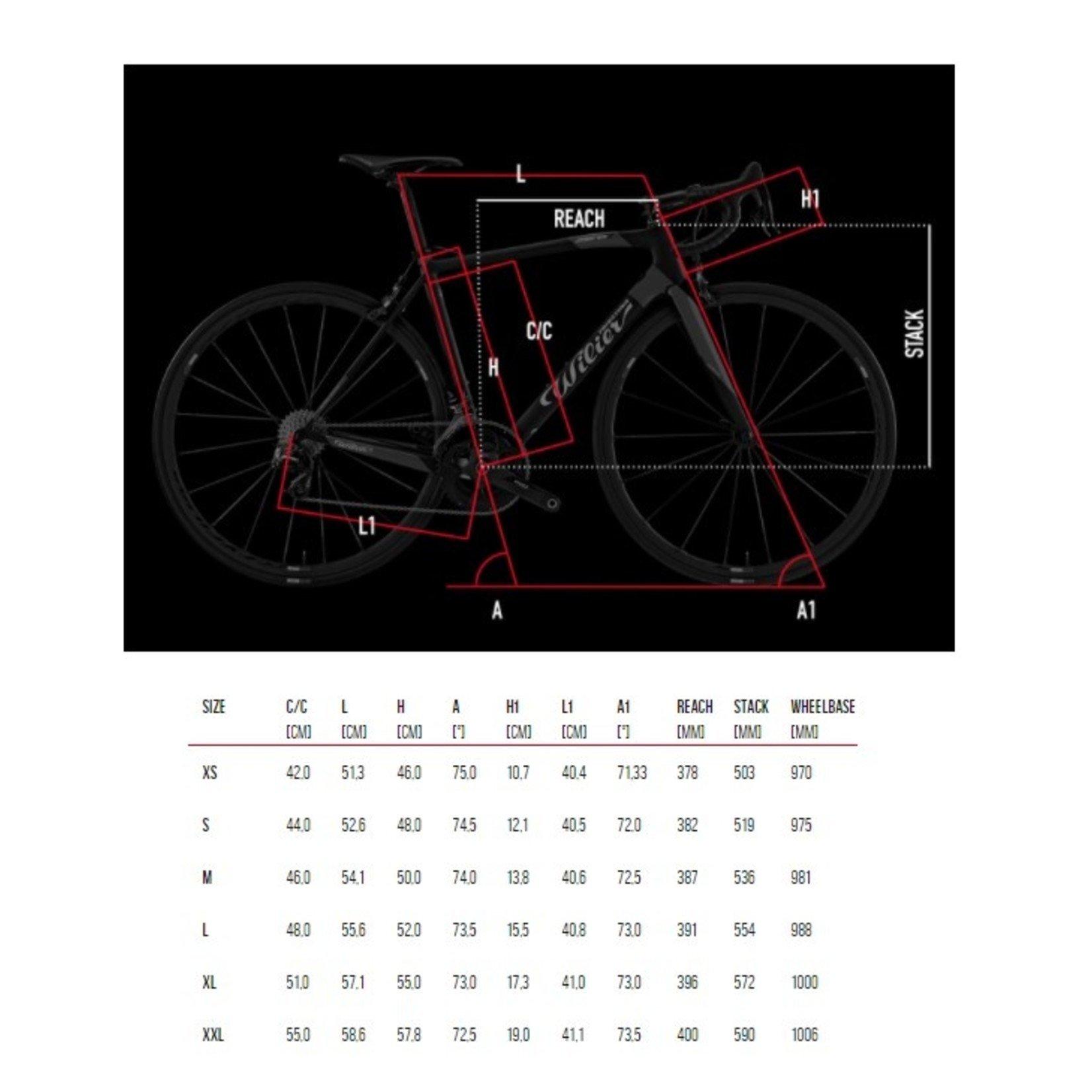 Wilier Large Zero7 Frameset Black/Matte Red