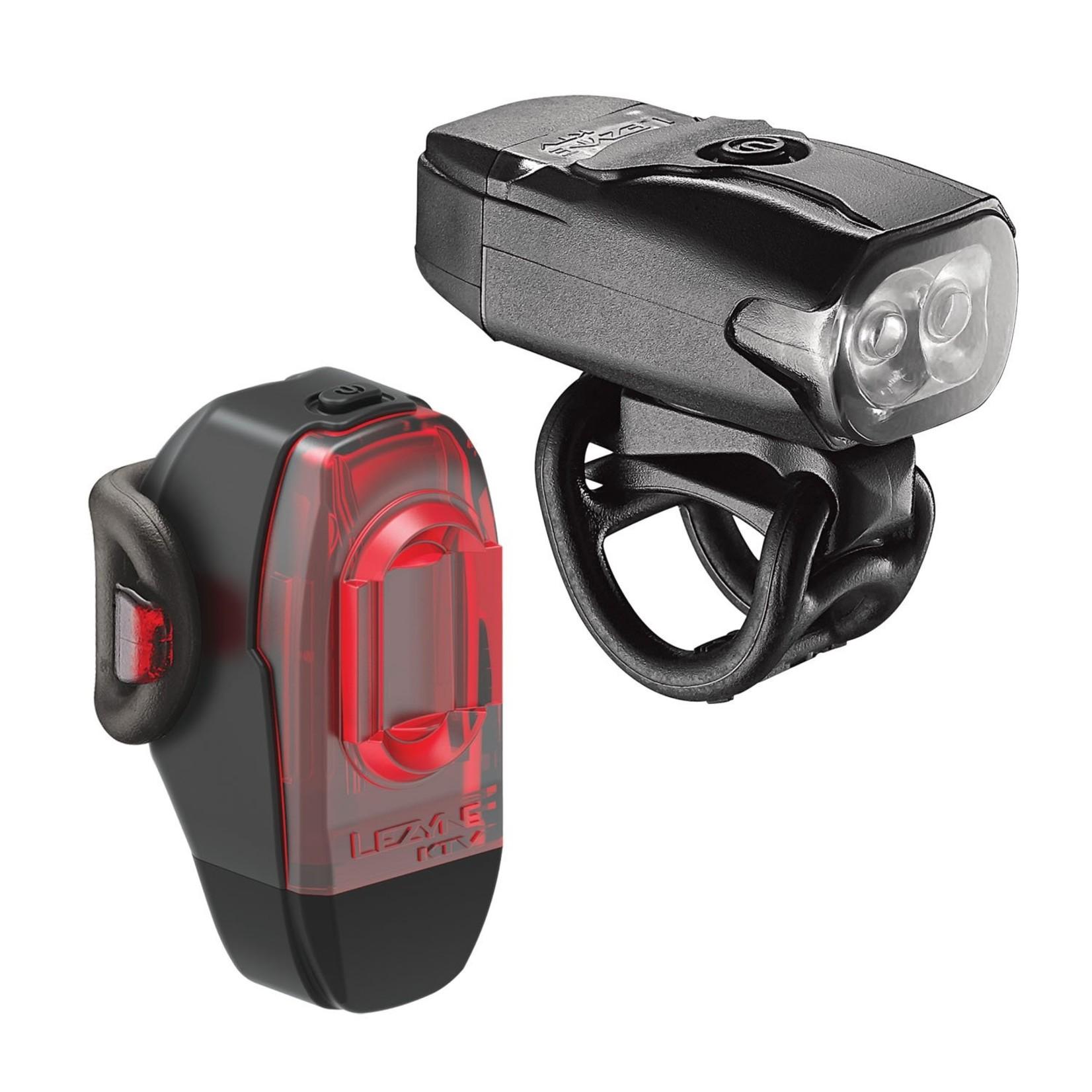 Lezyne Lezyne KTV Drive Headlight and Taillight Set: Black