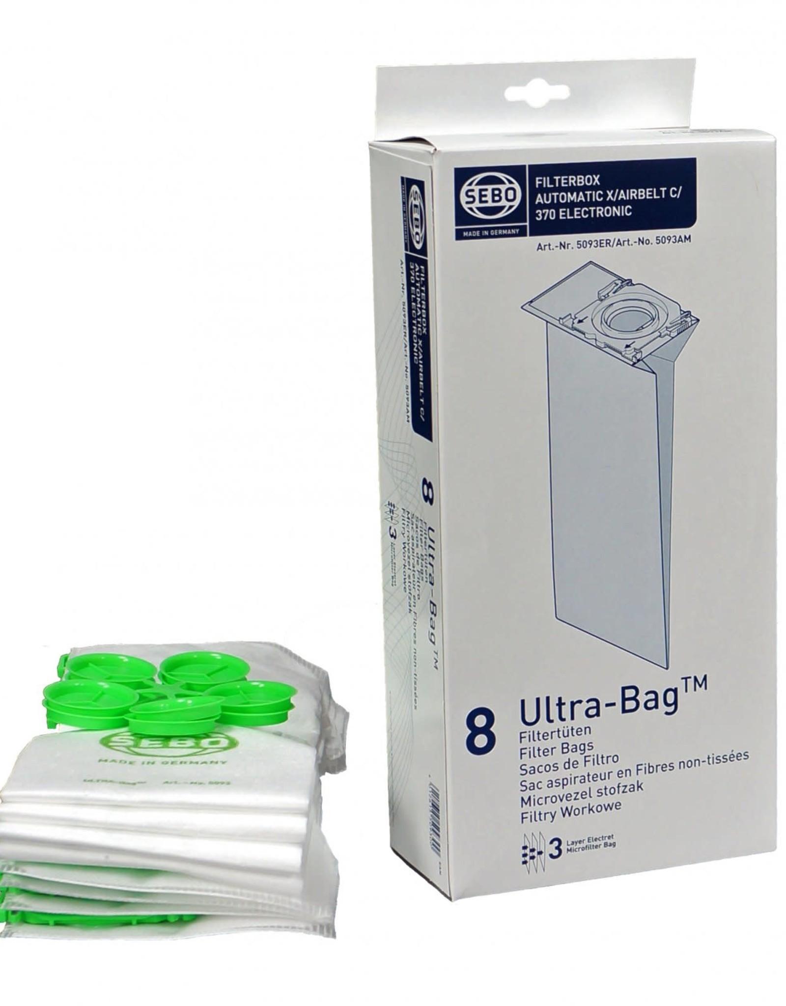 Sebo Sebo Bags 8pk Hepa X/C/370 5093AM
