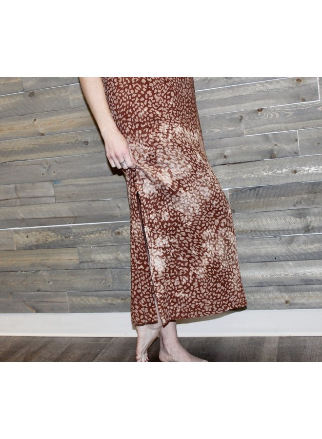 Entro Brown Animal Print Dress