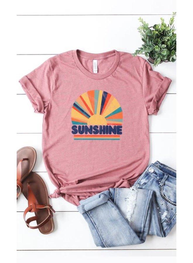 Sunshine distressed graphic tee