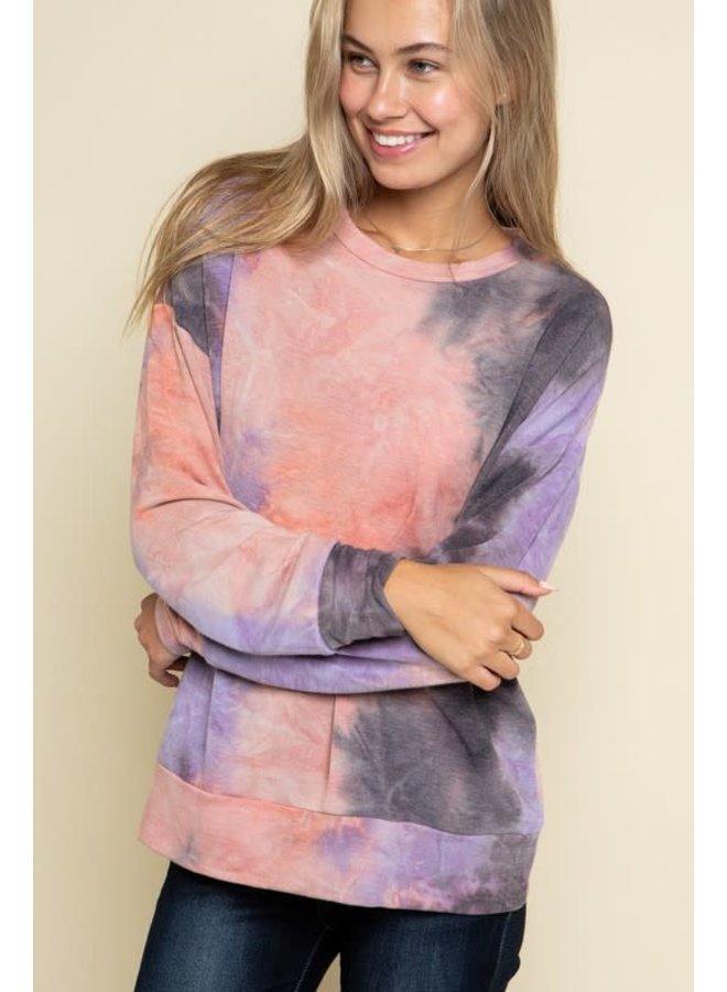 Tie-Dye coral  Sweatshirt