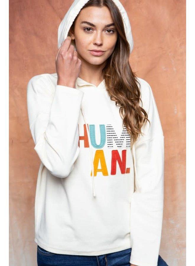 Human Hoodie Top