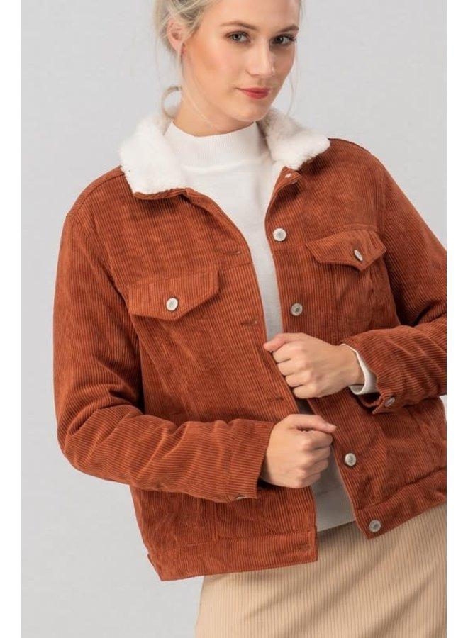 corduroy jacket with fleece lining