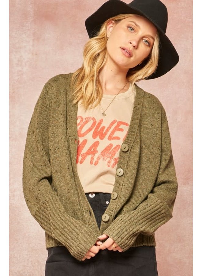 Short button front Cardigan
