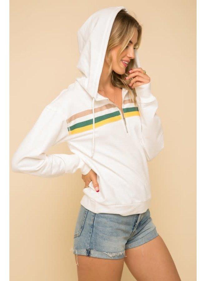 Rainbow hoodie pullover