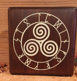 Celtic Spiral  x3 with Runes - Paint
