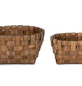 Melrose International Wood Baskets