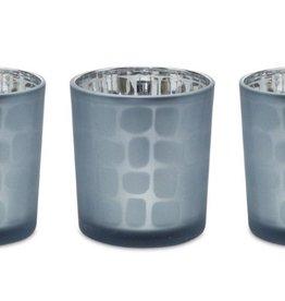 Melrose International Votive Holder Blue Glass