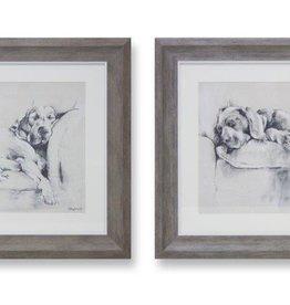 Melrose International Framed Dog Print (2 Asst)