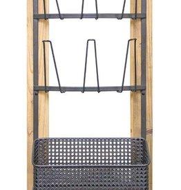 Melrose International Wall Glass Holder with Basket