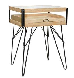 Melrose International Accent Table w/Glass Top