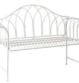 Melrose International White Garden Bench